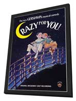 Crazy For You - 27 x 40 Movie Poster - Style A - in Deluxe Wood Frame