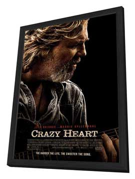 Crazy Heart - 27 x 40 Movie Poster - Style A - in Deluxe Wood Frame