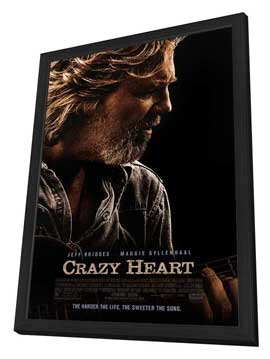 Crazy Heart - 27 x 40 Movie Poster - Style B - in Deluxe Wood Frame