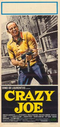 Crazy Joe - 11 x 17 Movie Poster - Italian Style B