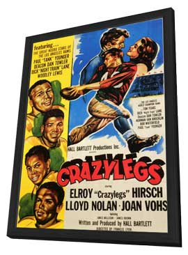 Crazylegs - 11 x 17 Movie Poster - Style A - in Deluxe Wood Frame