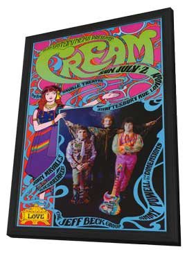Cream - 11 x 17 Music Poster - Style A - in Deluxe Wood Frame