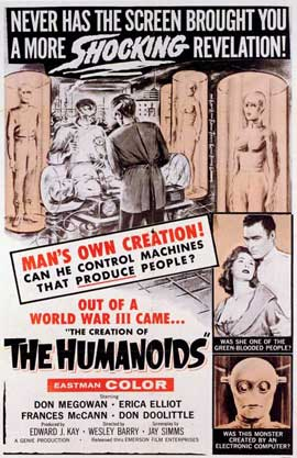The Creation of the Humanoids - 11 x 17 Movie Poster - Style A