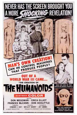 The Creation of the Humanoids - 27 x 40 Movie Poster - Style A