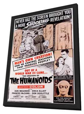 The Creation of the Humanoids - 11 x 17 Movie Poster - Style A - in Deluxe Wood Frame