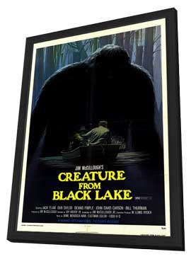 Creature from Black Lake - 27 x 40 Movie Poster - Style A - in Deluxe Wood Frame