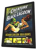 Creature from the Black Lagoon - 11 x 17 Movie Poster - Style A - in Deluxe Wood Frame