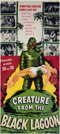 Creature from the Black Lagoon - 11 x 17 Movie Poster - Style E