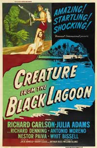 Creature from the Black Lagoon - 27 x 40 Movie Poster - Style B