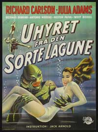 Creature from the Black Lagoon - 11 x 17 Movie Poster - Danish Style A