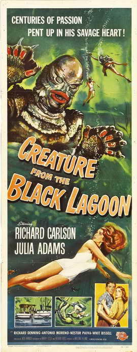 Creature from the Black Lagoon - 14 x 36 Movie Poster - Insert Style A