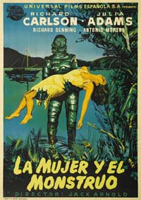 Creature from the Black Lagoon - 11 x 17 Movie Poster - Spanish Style A