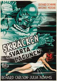 Creature from the Black Lagoon - 27 x 40 Movie Poster - Swedish Style A