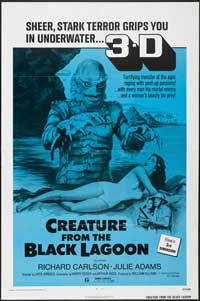 Creature from the Black Lagoon - 27 x 40 Movie Poster - Style E