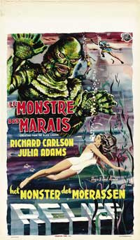 Creature from the Black Lagoon - 14 x 22 Movie Poster - Belgian Style A
