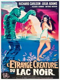 Creature from the Black Lagoon - 27 x 40 Movie Poster - French Style A