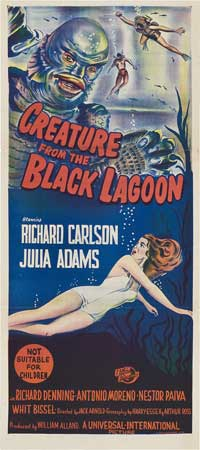 Creature from the Black Lagoon - 13 x 30 Movie Poster - Australian Style A