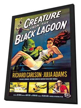 Creature from the Black Lagoon - 27 x 40 Movie Poster - Style A - in Deluxe Wood Frame