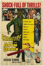 Creature With the Atom Brain - 11 x 17 Movie Poster - Style A
