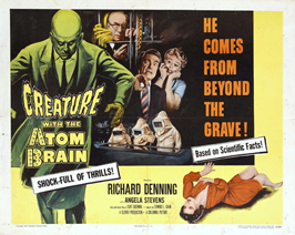 Creature With the Atom Brain - 30 x 40 Movie Poster UK - Style A