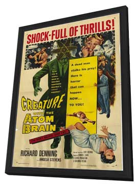 Creature With the Atom Brain - 11 x 17 Movie Poster - Style A - in Deluxe Wood Frame