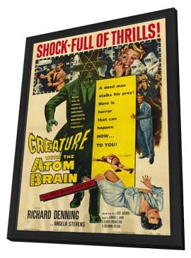 Creature With the Atom Brain - 27 x 40 Movie Poster - Style A - in Deluxe Wood Frame