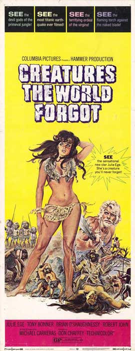 Creatures the World Forgot - 14 x 36 Movie Poster - Insert Style A
