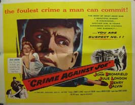 Crime Against Joe - 22 x 28 Movie Poster - Half Sheet Style A