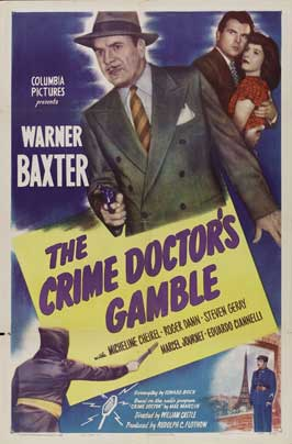 Crime Doctor's Gamble - 27 x 40 Movie Poster - Style A
