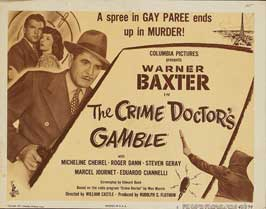 Crime Doctor's Gamble - 22 x 28 Movie Poster - Half Sheet Style A