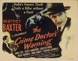 Crime Doctor's Gamble - 22 x 28 Movie Poster - Half Sheet Style B