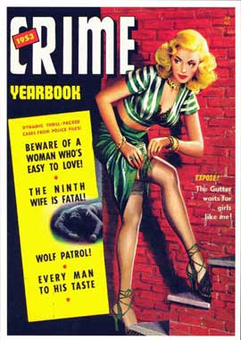Crime - 11 x 17 Retro Book Cover Poster