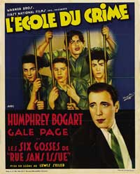 Crime School - 11 x 17 Movie Poster - French Style B