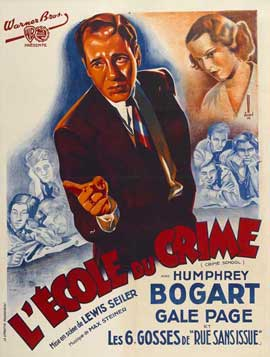 Crime School - 11 x 17 Movie Poster - French Style C