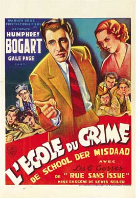 Crime School - 11 x 17 Movie Poster - Belgian Style A