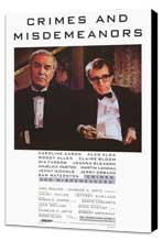 Crimes & Misdemeanors - 27 x 40 Movie Poster - Style A - Museum Wrapped Canvas