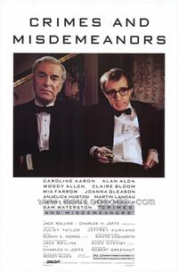 Crimes & Misdemeanors - 43 x 62 Movie Poster - Bus Shelter Style A