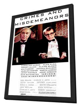 Crimes & Misdemeanors - 11 x 17 Movie Poster - Style A - in Deluxe Wood Frame