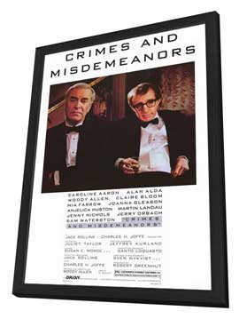 Crimes & Misdemeanors - 27 x 40 Movie Poster - Style A - in Deluxe Wood Frame