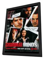 Criminal Minds - 11 x 17 TV Poster - Style B - in Deluxe Wood Frame