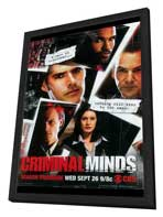 Criminal Minds - 27 x 40 TV Poster - Style A - in Deluxe Wood Frame