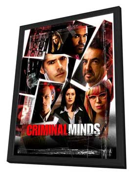 Criminal Minds - 27 x 40 TV Poster - Style B - in Deluxe Wood Frame