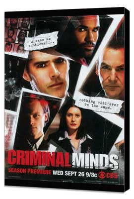 Criminal Minds - 27 x 40 TV Poster - Style A - Museum Wrapped Canvas