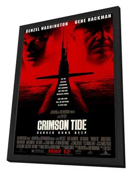Crimson Tide - 27 x 40 Movie Poster - Style A - in Deluxe Wood Frame