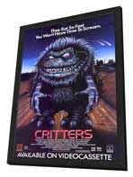 Critters - 11 x 17 Movie Poster - Style C - in Deluxe Wood Frame