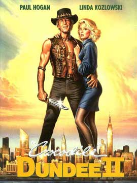 Crocodile Dundee 2 - 27 x 40 Movie Poster - German Style A