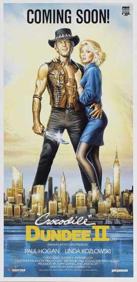 Crocodile Dundee - 13 x 30 Movie Poster - Australian Style A