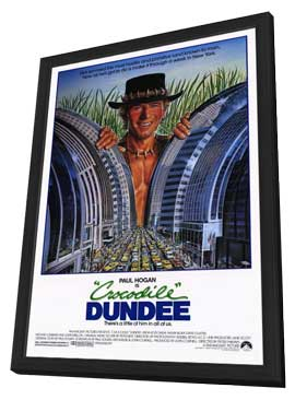 Crocodile Dundee - 27 x 40 Movie Poster - Style A - in Deluxe Wood Frame