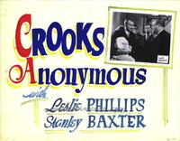 Crooks Anonymous - 11 x 14 Movie Poster - Style A