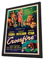 Crossfire - 27 x 40 Movie Poster - Style B - in Deluxe Wood Frame